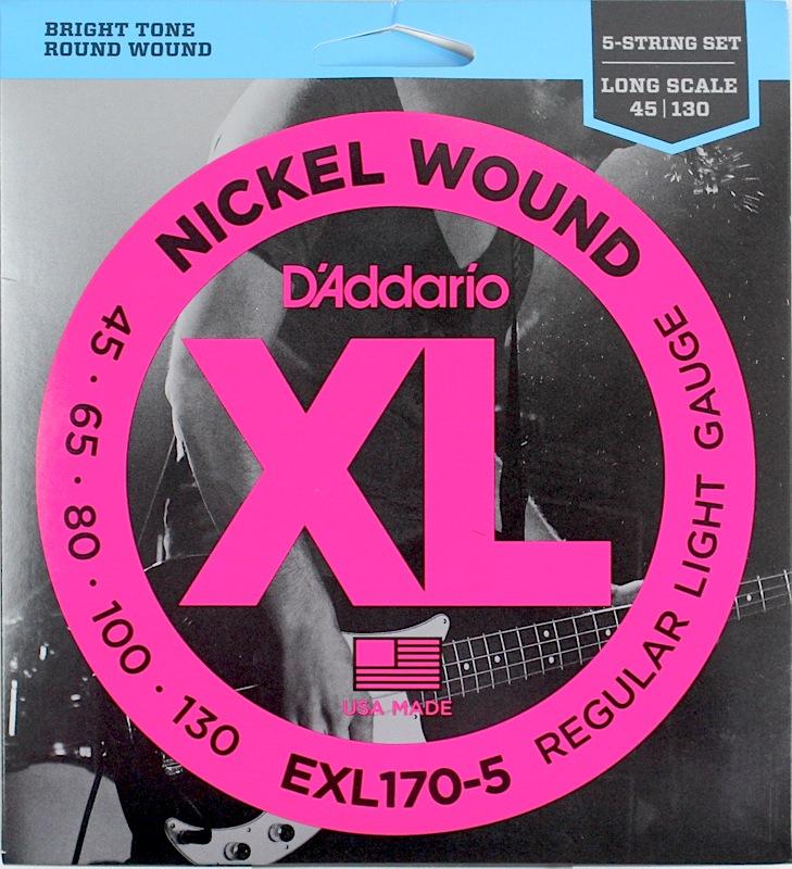 D'Addario EXL170-5×5SET 5弦ベース弦