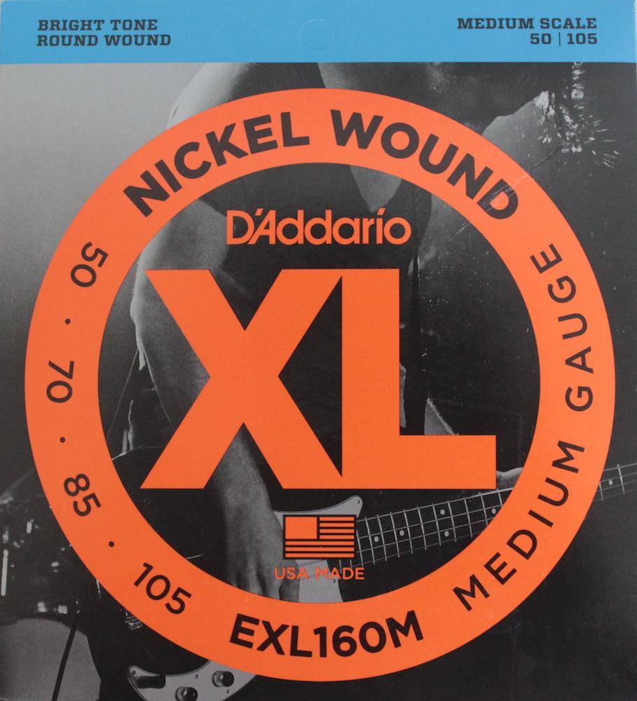 D'Addario EXL160M×5SET ベース弦 ミディアムスケール