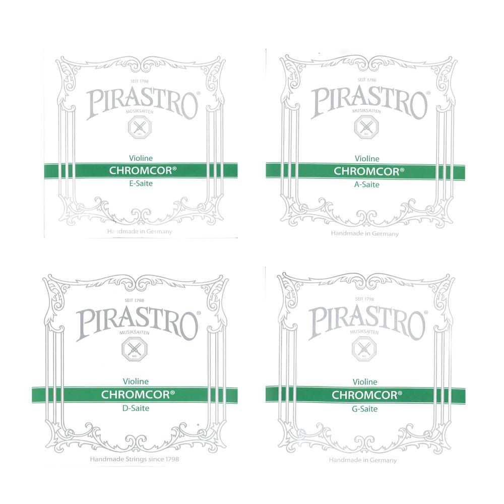ピラストロ 4 4バイオリン弦 クロームコア 当店一番人気 1セット販売 全商品オープニング価格 Loop 4サイズ用バイオリン弦セット End E線ループエンド PIRASTRO Chromcor