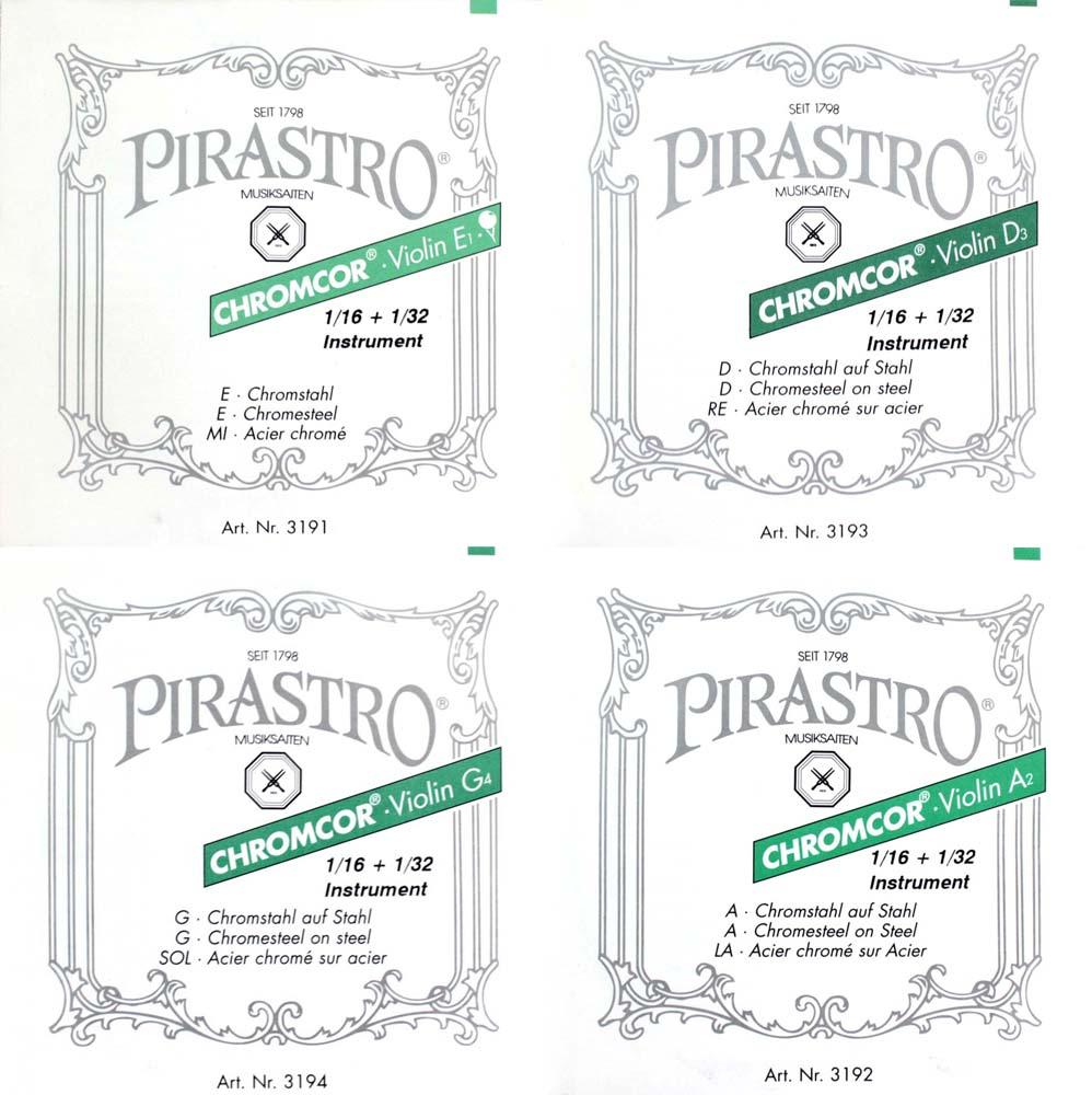 ピラストロ 1 16 32分数バイオリン弦 クロムコア 32サイズ用バイオリン弦セット Chromcor 絶品 PIRASTRO 好評 セット販売