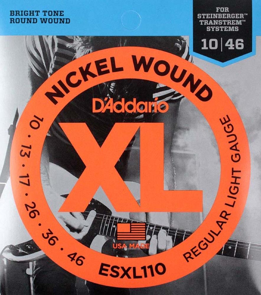 ダダリオ スタインバーガー用ギター弦 3セット D'Addario ESXL110×3SET ダブルボールエンド ギター弦