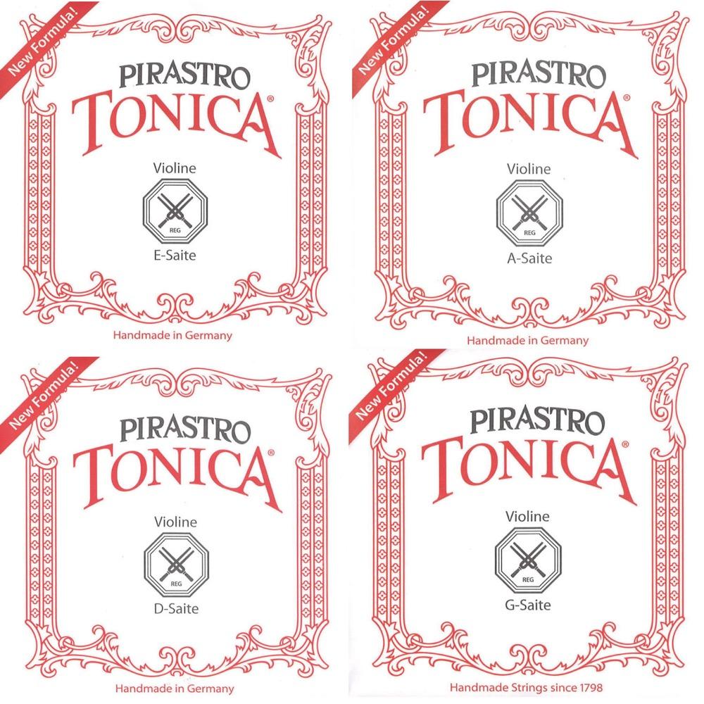 トニカ 4 4バイオリン弦 1セット販売 Ball End 4サイズ用バイオリン弦セット 記念日 いつでも送料無料 TONICA ボールエンド E線クローム PIRASTRO