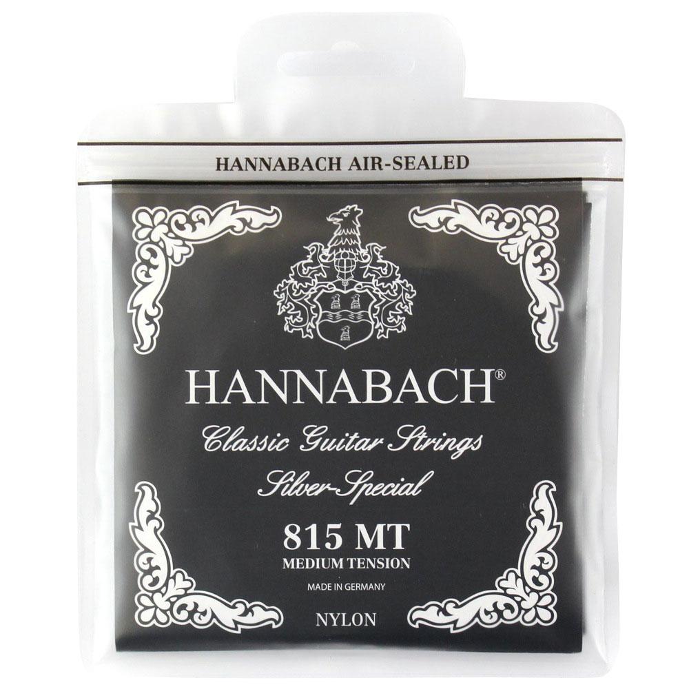 HANNABACH E815 MT-Black Set クラシックギター弦×6セット