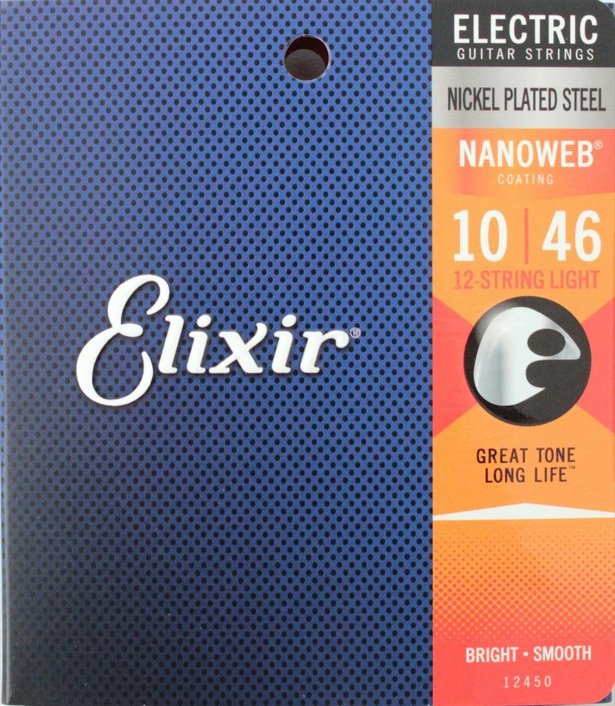 ELIXIR 12450 NANOWEB 12-String Light 10-46 12弦エレキギター弦×3SET
