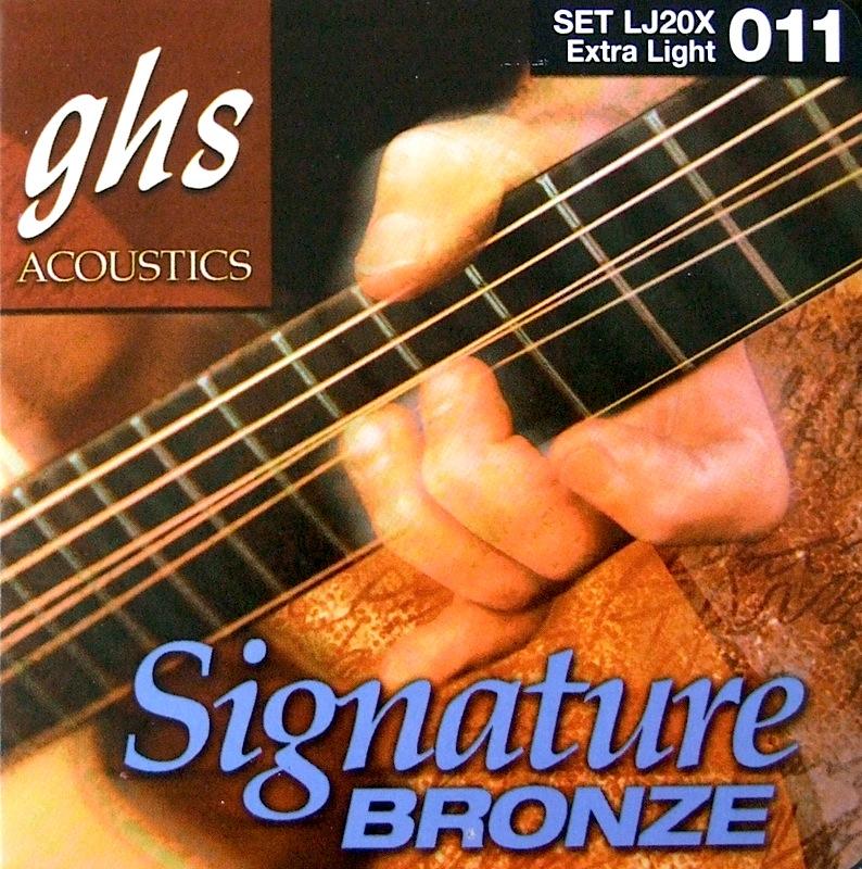 GHS LJ20X Signature Phosphor Bronze アコースティックギター弦×12セット