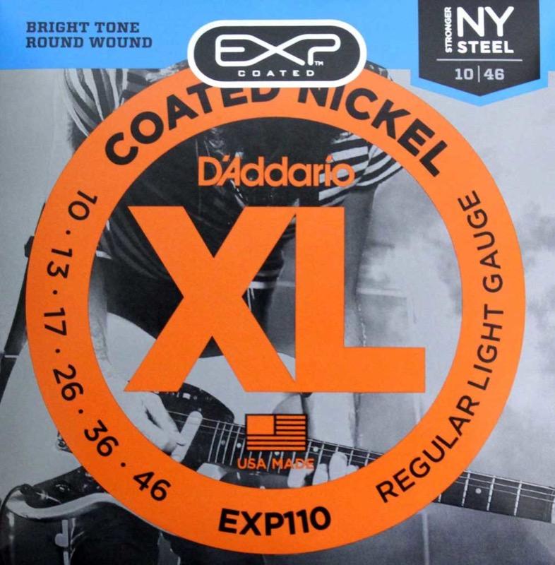 D'Addario EXP110 Coated Regular Light×10SET エレキギター弦
