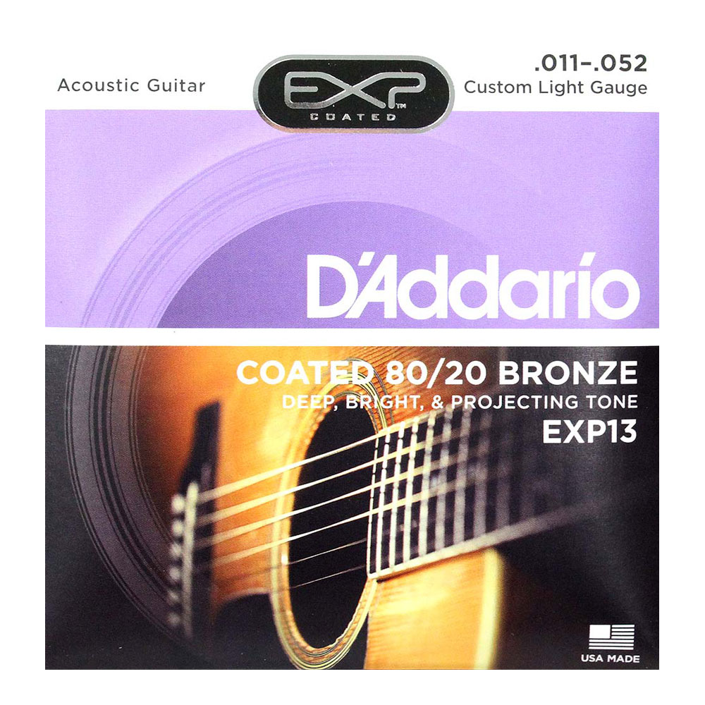 D'Addario EXP13 Coated 80/20 Bronze Custom Light×10SET アコースティックギター弦