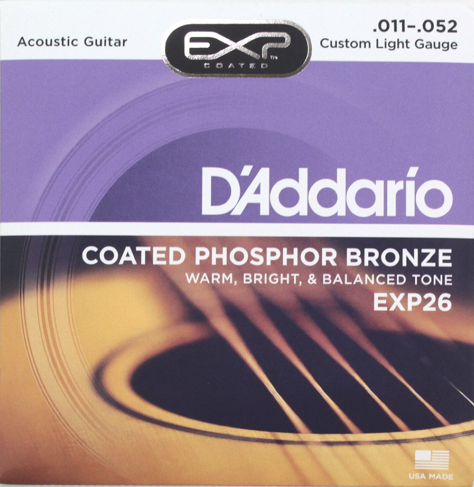 D'Addario EXP26 Coated Phosphor Bronze Custom Light×10SET アコースティックギター弦