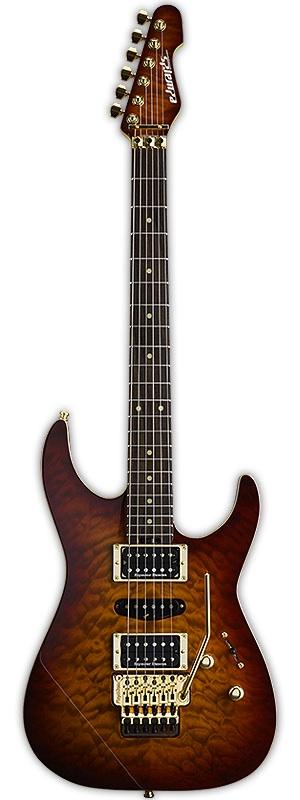 EDWARDS E-MR-165DT Cherry Brown Sunburst エレキギター