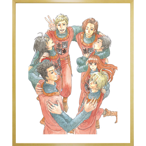 岩本ナオ先生直筆サイン入り超高画質複製原画プリマグラフィ「マロニエ王国の七人の騎士A」(サイズ小)