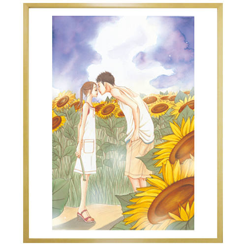 芦原妃名子先生直筆サイン入り超高精細複製原画プリマグラフィ「砂時計」(サイズ小)
