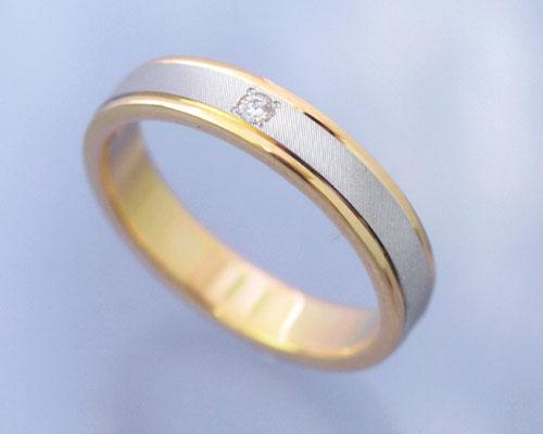 AI(アイ)プラチナ+K18ゴールドコンビ リング/結婚指輪 「lune(ルナ)」Lady's【送料無料】【コンビニ受取対応商品】