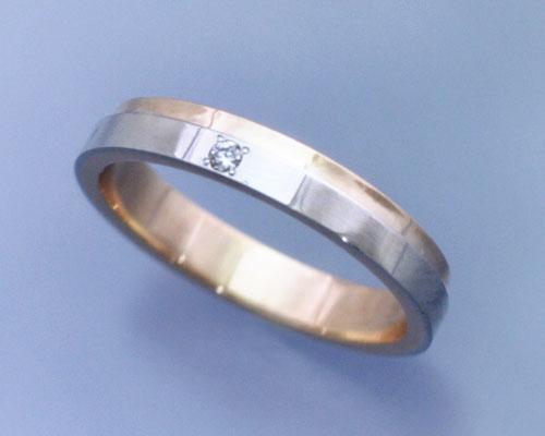 AI(アイ)プラチナ+K18ピンクゴールド コンビ ダイヤ リング/結婚指輪 「lumiere(ルミエール)」Lady's【送料無料】【コンビニ受取対応商品】