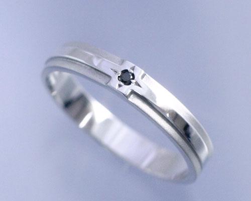 AI mavie(アイ マヴィ)K14ホワイトゴールド ダイヤモンド リング/結婚指輪(指輪)「phare(ファール)」Men's/メンズ【コンビニ受取対応商品】
