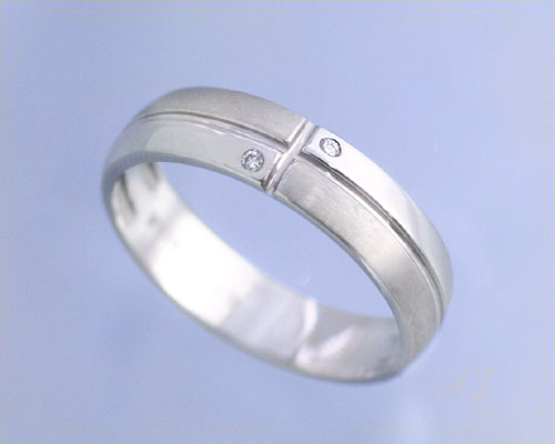 AI mavie(アイ マヴィ)K14ホワイトゴールド ダイヤモンド リング/結婚指輪(指輪)「horizon(オリゾン)」Lady's/レディース【コンビニ受取対応商品】