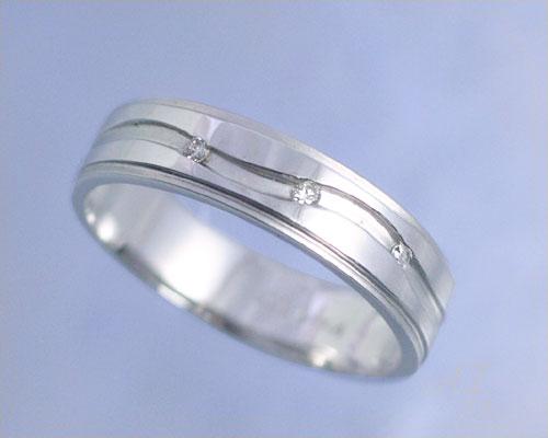 AI mavie(アイ マヴィ)K14ホワイトゴールド ダイヤモンド リング/結婚指輪(指輪)「vague(ヴァグ)」Lady's/レディース【コンビニ受取対応商品】