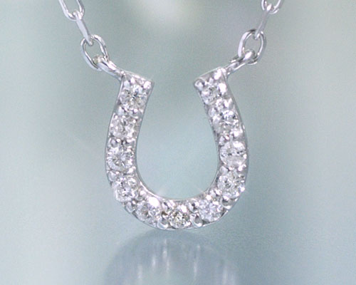 Ciaoaccessories rakuten global market april birth stone diamond april birth stone diamond 011 ct horseshoe necklace pendant building and manufacture custom made about 20 days delivery time aloadofball Image collections
