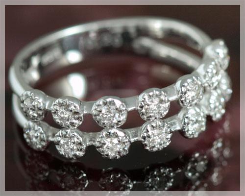 ピンキーリング 18k 4月誕生石 ダイヤモンド 0.20ct リング(指輪)【K18ホワイトゴールド(K18WG)】【3~13号対応】送料無料/製造オーダー品 約20日間納期