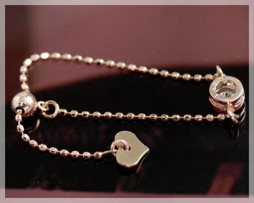 4月誕生石 ダイヤモンド 0 08ct リング 指輪 ラウンド型 チェーンリング 指輪 K18ピンクゴールド K18PG 18k 18金 スライドアジャスター付フリーサイズ製造オーダー品 約20日間納期 コンビニ受取対応商品LA3qc54Rj