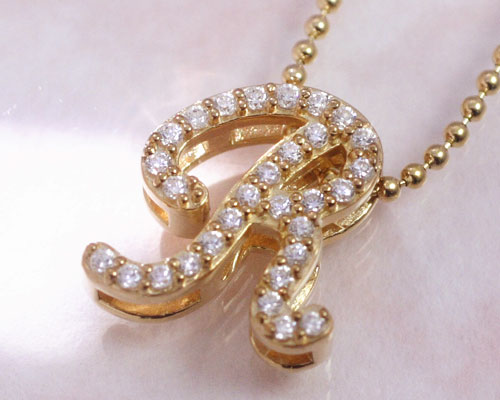 Ciao Accessories Alphabet R Initial Necklace Cubic