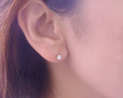 Rose Quartz Stud Earrings Round Cut And Manufacture Custom Made About 20 Days Delivery Time