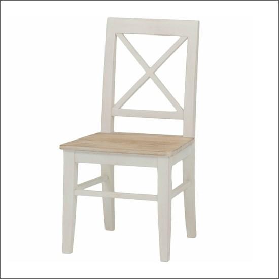 【送料無料】 シャビーテイスト 木製 チェア ホワイト 幅45 無垢 椅子 デスクチェア シャビー ヴィンテージ ビンテージ アジアン カントリー レトロ お洒落 アンティーク おしゃれ PS