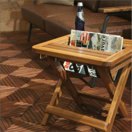 【送料無料】 木製マガジンラックテーブル(折りたたみ) お洒落 折りたたみテーブル 木製マガジンラック 木製サイドテーブル アメリカンカントリー風 レトロ カントリー ヴィンテージ PS