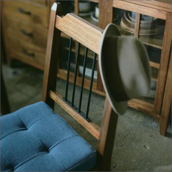 【送料無料】 デニムチェア ダイニングチェア 2脚セット 天然木 アイアン 木製 デニム チェア チェアー 椅子 お洒落 ブルックリン ダイニング おしゃれ PS