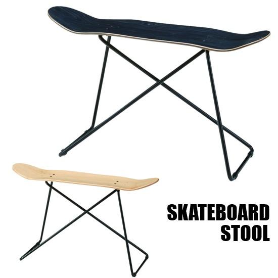 【送料無料】 スケートボード スツール スケボー デッキ スツール チェア 椅子 木製 スチール アイアン 西海岸 インダストリアル アメリカン ブルックリン お洒落 おしゃれ PS