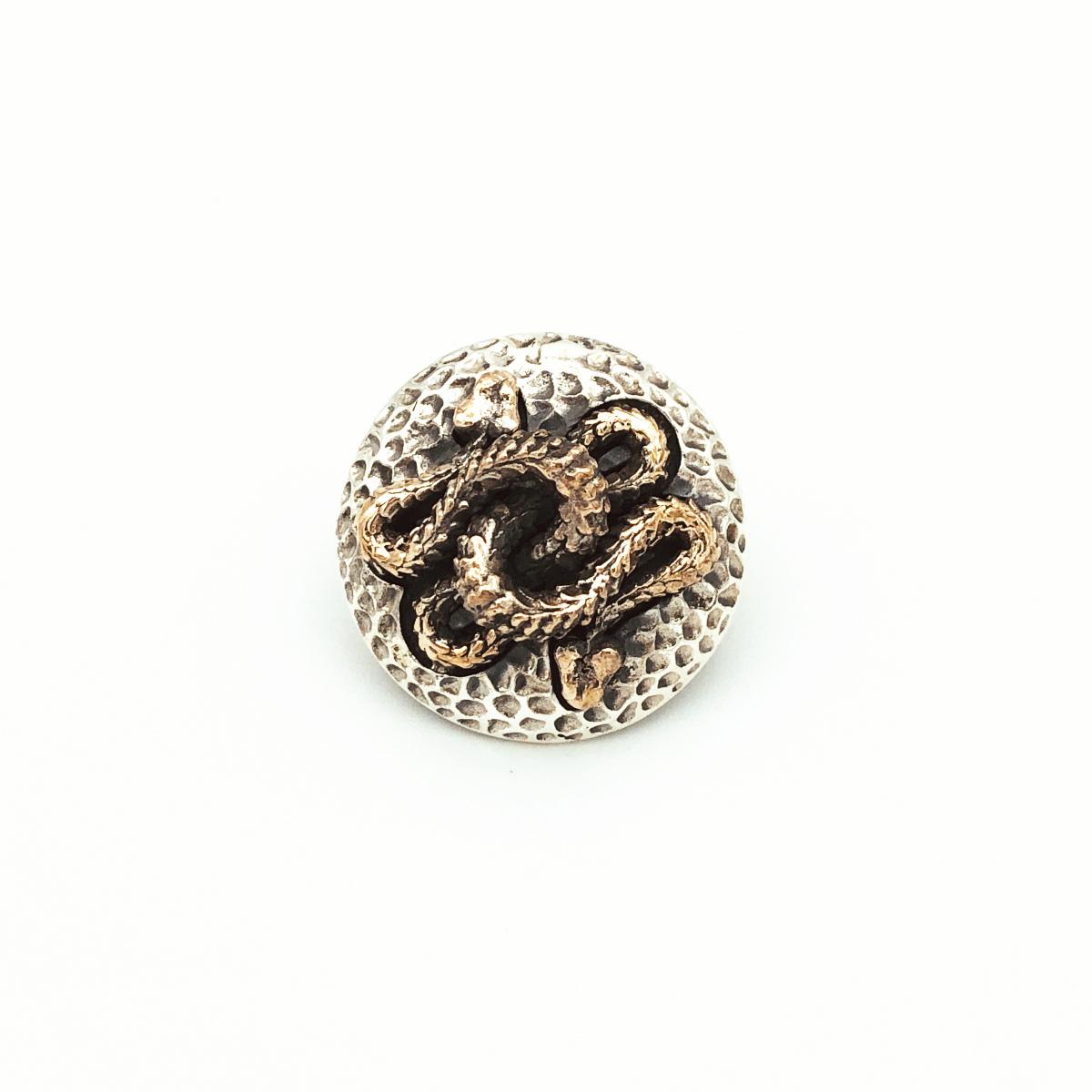 シルバー925 コンチョ 蛇 ヘビ 銀 Silver 925 直径 約27.5mm レザークラフト 財布 ケース カスタムパーツ バッグ DIY パーツ 手芸 革財布