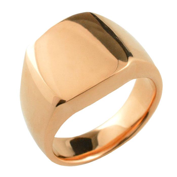 【再入荷!】 K18 リング 印台 18k 18金リング ゴールド 印台リング 幅広 シンプル リング ピンクゴールド PG リング 指輪 誕生日 レディース ジュエリー アクセサリー プレゼント ギフト, 梱包資材の店LALACHYAN c3ff522e