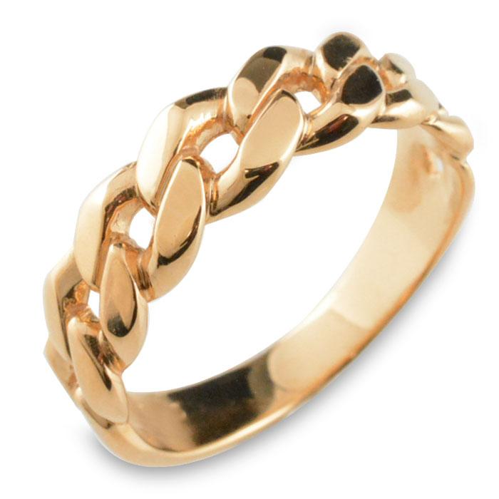 リング メンズ 喜平 指輪 キヘイ 5.5mm ピンクゴールド k18 幅広 地金リング 18k 18金 シンプル ブライダル