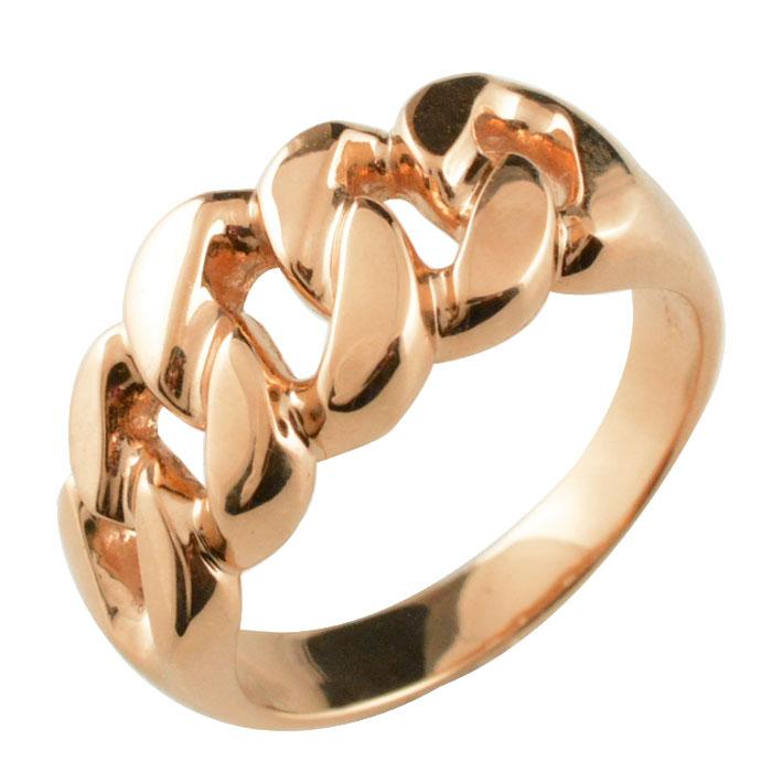 リング メンズ 喜平 9.5mm 指輪 キヘイ ピンクゴールド k18 幅広 地金リング 18k 18金 シンプル ブライダル