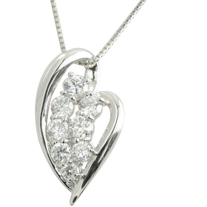ネックレス ダイヤモンド プラチナ ハート レディース プラチナ900 ハートモチーフ ペンダント ダイヤpt900 pendant 記念 誕生日