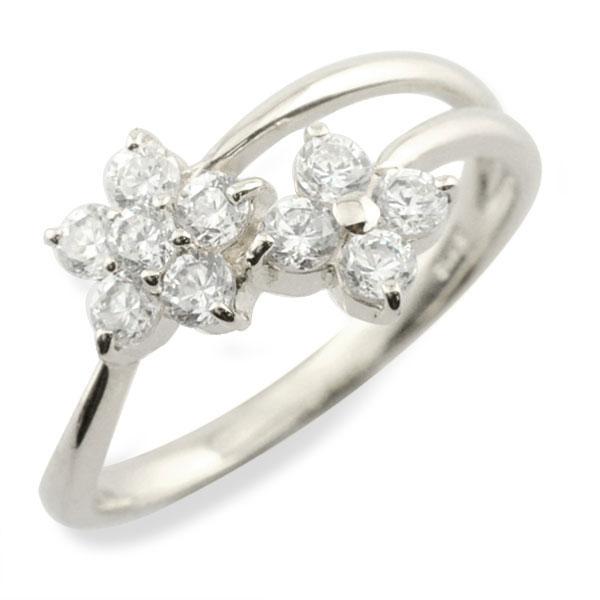 【送料無料】リング ダイヤモンド プラチナ 指輪 10周年 記念 pt900 フラワー アニバーサリー テンダイヤモンド スウィート 10粒 花 10石 可愛い レディース 天然石 クリスマス Xmas