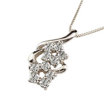 煌びやかに輝くダイヤモンドネックレス ネックレス ダイヤモンド ペンダント 注文後の変更キャンセル返品 フラワー 記念日 ダイヤ 10k レディース 花 K10 ホワイトゴールド 新作通販 ダイヤネックレス