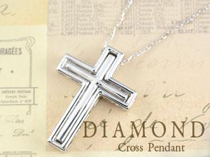 ネックレス クロス ダイヤモンド ペンダント レディース プラチナ クロス 1.02ct リバーシブル ダイヤ ゴージャス ダイヤネックレス ペンダント 十字架 プレゼントに  サマー