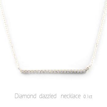 ネックレス ダイヤモンド レディース ペンダント プラチナ ダイヤ プラチナ900 pendant 0.1ct 華奢 シンプル 記念 誕生日 ライン スキンジュエリー