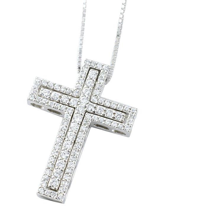 【送料無料】k18 クロス メンズ ゴールド ダイヤモンド ネックレス ペンダント k18 ダイヤ 18k 18金 pendant 記念 誕生日 十字架 ホワイトデー