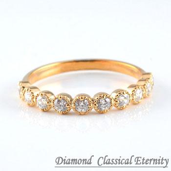 【送料無料】ダイヤモンドリング ピンキーリング 指輪 ダイヤモンド クラシカル ミルウチ ピンクゴールドk18 ダイヤ レディース ホワイトデー
