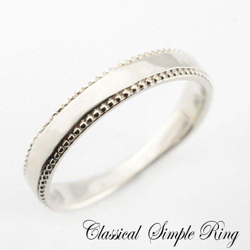 【送料無料】結婚指輪 婚約指輪 ブライダル エンゲージリング レディース リング 指輪 プラチナ プラチナ900 ピンキーリング 地金 シンプル 平打ち ミル打ち アンティーク ホワイトデー