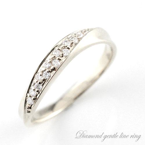 【送料無料】ダイヤモンド レディース エンゲージリング ダイヤモンドリング プラチナ ピンキーリング 指輪 ダイヤモンド カーブ ダイヤ 婚約指輪 エンゲージリング 結婚指輪 クリスマス Xmas