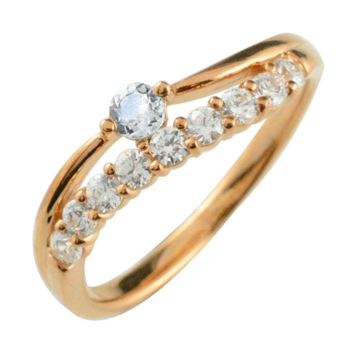 リング ダイヤモンド ブルームーン k18 指輪 記念 ピンクゴールド アニバーサリー 10粒 ゴールド 18k 10石 18金 重ねづけ 6月 レディース 天然石