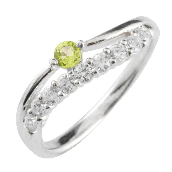 リング ダイヤモンド ペリドット プラチナ 指輪 記念 プラチナ900 pt900 アニバーサリー 10粒 ゴールド 10石 重ねづけ 8月 レディース 天然石