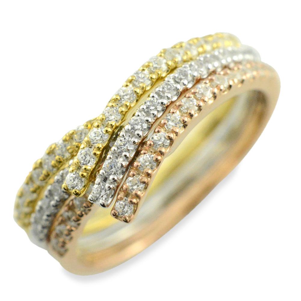 リング ダイヤモンドリング k18 ハーフエタニティ 指輪 V字 イエローゴールド プラチナ ピンクゴールド 重ねつけ ダイヤモンド pt900 18k 18金 レディース エタニティ ダイヤ