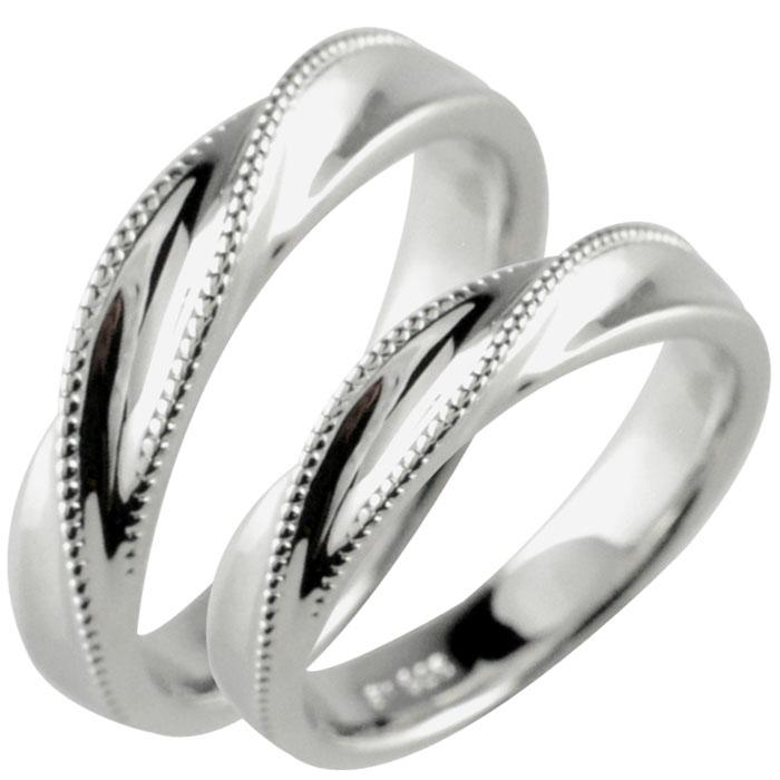 結婚指輪 ブライダル マリッジリング ペアリング k18 18k 18金 WG YG PG ペア 2本 セット ミルウチ 地金 ペアリング メンズ レディース 記念日 指輪 ゆびわ