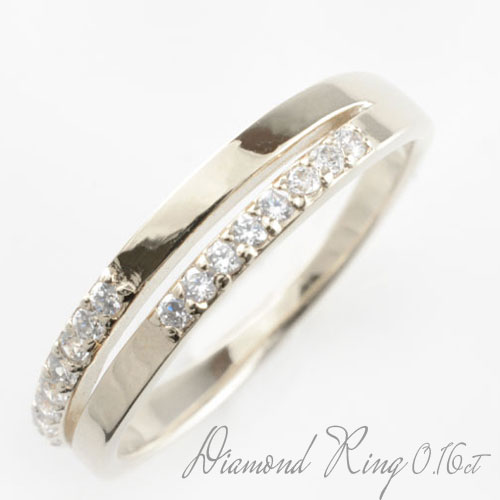 【送料無料】ダイヤモンド リング プラチナ レディース ミルウチ ダイヤモンドリング ピンキーリング 指輪 ダイヤモンド 0.16ct pt900 ダイヤ 婚約指輪 エンゲージリング 結婚指輪 ホワイトデー