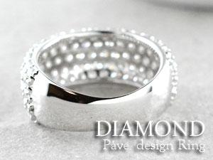 ダイヤモンド リング パヴェ k18 ホワイトゴールド アンティーク  レディース  指輪  ダイヤ 2.0ct クラシカル エレガント 18k ダイヤ エレガント  サマー