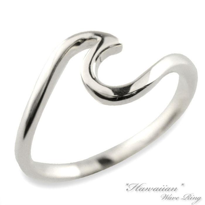 【送料無料】メンズ プラチナ リング 指輪 ハワイアン プラチナ900 pt ウェーブ 地金リング 波 華奢 pt900 スクロール ハワイ