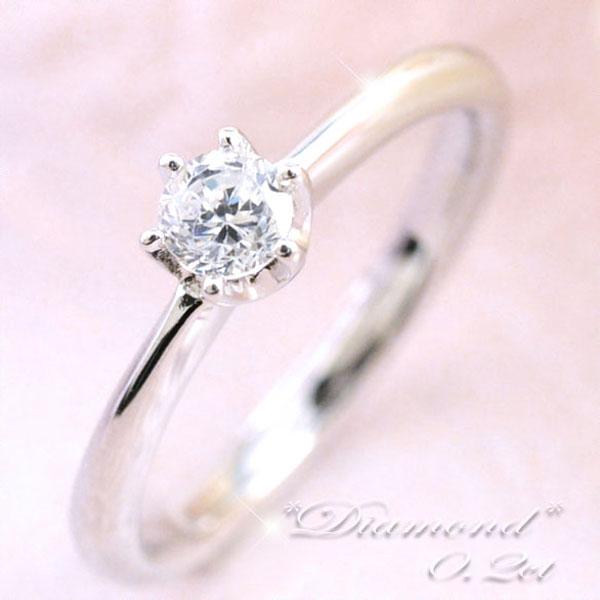 ダイヤモンドリング レディース ブライダル リング 一粒ダイヤ 0.2ct プラチナ リング 指輪 エンゲージリング pt900 結婚指輪 婚約指輪